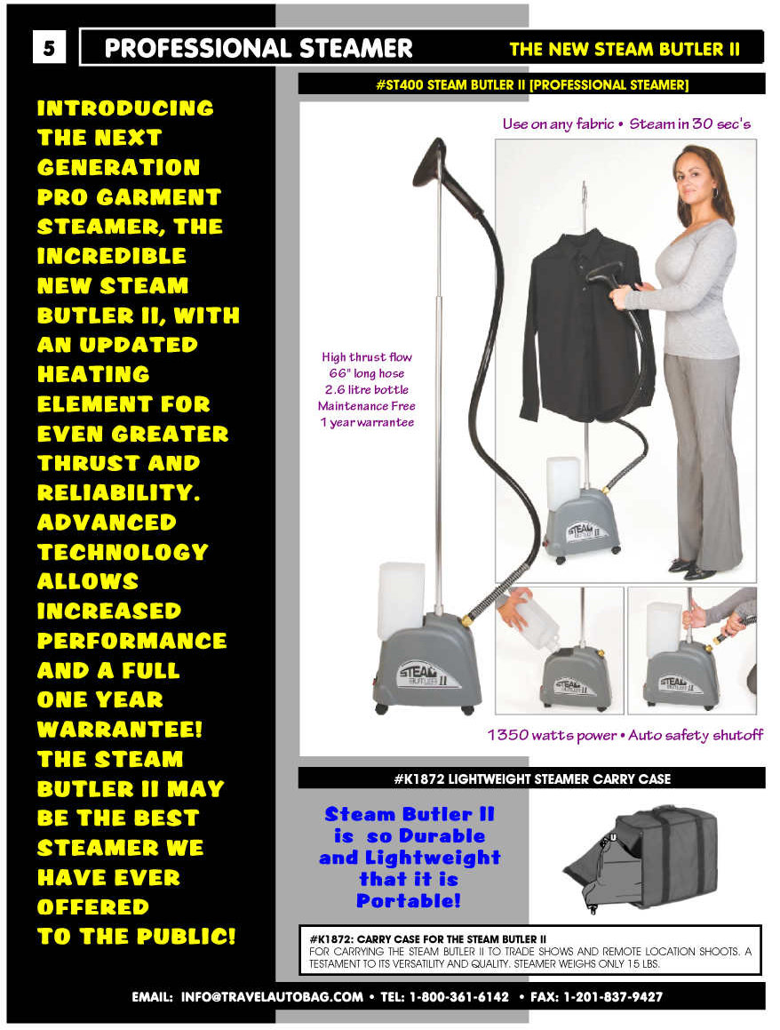 Steam Butler 2 Powerful Commercial Clothing Steamer